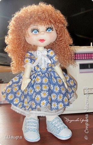 Интерьерная кукла. Рост 50 см. Голова - капрон, тело, руки, ноги - ткань. Волосы, ресницы покупные. Ножки и тело на каркасе. фото 11