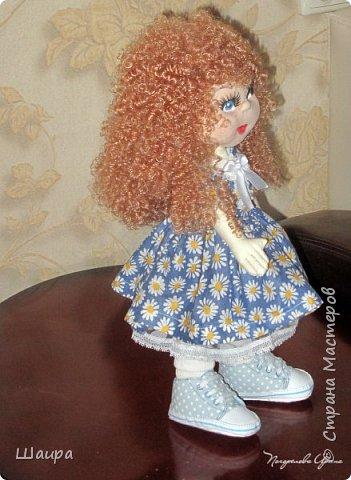 Интерьерная кукла. Рост 50 см. Голова - капрон, тело, руки, ноги - ткань. Волосы, ресницы покупные. Ножки и тело на каркасе. фото 12