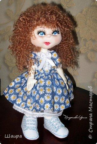 Интерьерная кукла. Рост 50 см. Голова - капрон, тело, руки, ноги - ткань. Волосы, ресницы покупные. Ножки и тело на каркасе. фото 1