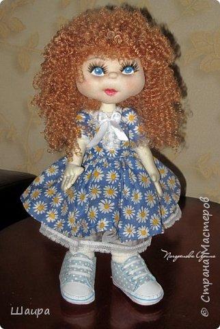 Интерьерная кукла. Рост 50 см. Голова - капрон, тело, руки, ноги - ткань. Волосы, ресницы покупные. Ножки и тело на каркасе. фото 14