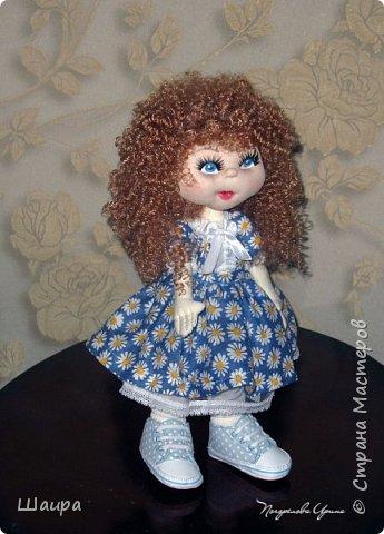 Интерьерная кукла. Рост 50 см. Голова - капрон, тело, руки, ноги - ткань. Волосы, ресницы покупные. Ножки и тело на каркасе. фото 13