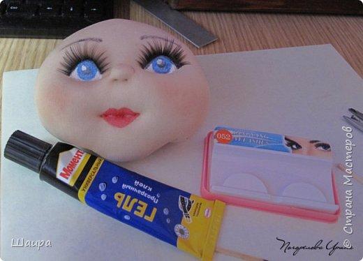 Интерьерная кукла. Рост 50 см. Голова - капрон, тело, руки, ноги - ткань. Волосы, ресницы покупные. Ножки и тело на каркасе. фото 5