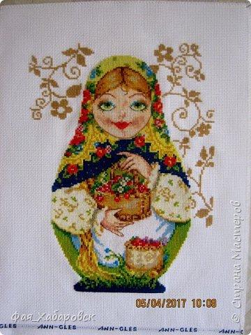 Вышивка  Ангел и снегири. Размер  40 х 27 фото 3