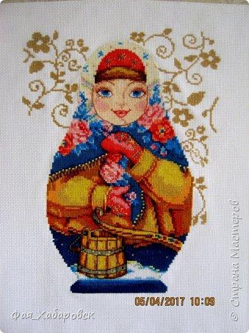 Вышивка  Ангел и снегири. Размер  40 х 27 фото 5