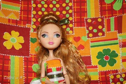 Привет жители страны мастеров)))Давно меня здесь не было(((Но я вернулась(ура!!) И я сдаю работу на Конкурс Кукольная мода.Я сшила летнее(или весеннее) яркое платье...Ну что ж начнем!? фото 1
