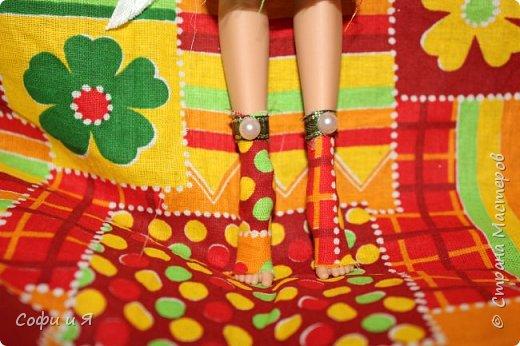 Привет жители страны мастеров)))Давно меня здесь не было(((Но я вернулась(ура!!) И я сдаю работу на Конкурс Кукольная мода.Я сшила летнее(или весеннее) яркое платье...Ну что ж начнем!? фото 2