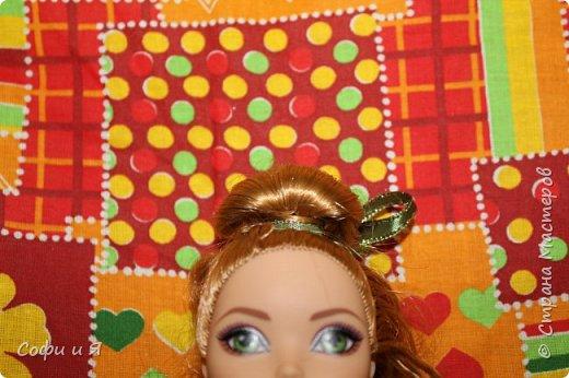 Привет жители страны мастеров)))Давно меня здесь не было(((Но я вернулась(ура!!) И я сдаю работу на Конкурс Кукольная мода.Я сшила летнее(или весеннее) яркое платье...Ну что ж начнем!? фото 5