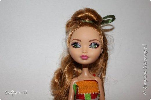 Привет жители страны мастеров)))Давно меня здесь не было(((Но я вернулась(ура!!) И я сдаю работу на Конкурс Кукольная мода.Я сшила летнее(или весеннее) яркое платье...Ну что ж начнем!? фото 10