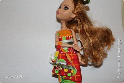 Привет жители страны мастеров)))Давно меня здесь не было(((Но я вернулась(ура!!) И я сдаю работу на Конкурс Кукольная мода.Я сшила летнее(или весеннее) яркое платье...Ну что ж начнем!? фото 12