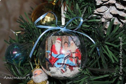 Вот такие оригинальные фото-шары делала на подарки на Новый год. =) фото 1