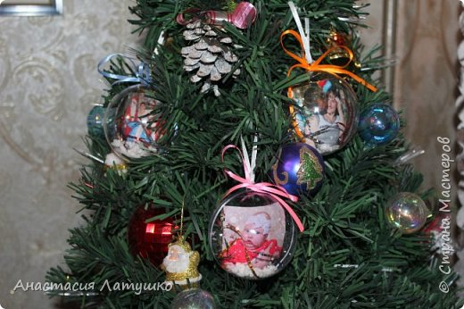 Вот такие оригинальные фото-шары делала на подарки на Новый год. =) фото 2