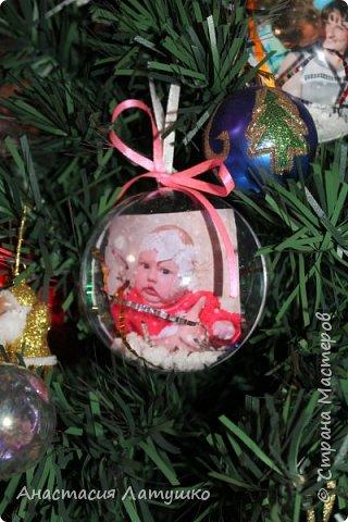 Вот такие оригинальные фото-шары делала на подарки на Новый год. =) фото 3