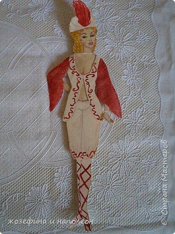 """Здравствуйте дорогие мастера и мастерицы. Увидела прелестных , бумажных куколок у Елены Ивановны, вспомнила, что у самой вот уже 50 лет  бережно хранится бумажная куколка Анжелика. Нарисовала я её после просмотра фильма """"Анжелика"""" роль, которой ,сыграла французская актриса Мишель Мерсье. фото 18"""