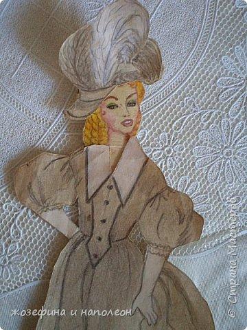 """Здравствуйте дорогие мастера и мастерицы. Увидела прелестных , бумажных куколок у Елены Ивановны, вспомнила, что у самой вот уже 50 лет  бережно хранится бумажная куколка Анжелика. Нарисовала я её после просмотра фильма """"Анжелика"""" роль, которой ,сыграла французская актриса Мишель Мерсье. фото 14"""