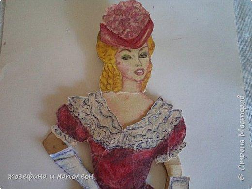 """Здравствуйте дорогие мастера и мастерицы. Увидела прелестных , бумажных куколок у Елены Ивановны, вспомнила, что у самой вот уже 50 лет  бережно хранится бумажная куколка Анжелика. Нарисовала я её после просмотра фильма """"Анжелика"""" роль, которой ,сыграла французская актриса Мишель Мерсье. фото 1"""