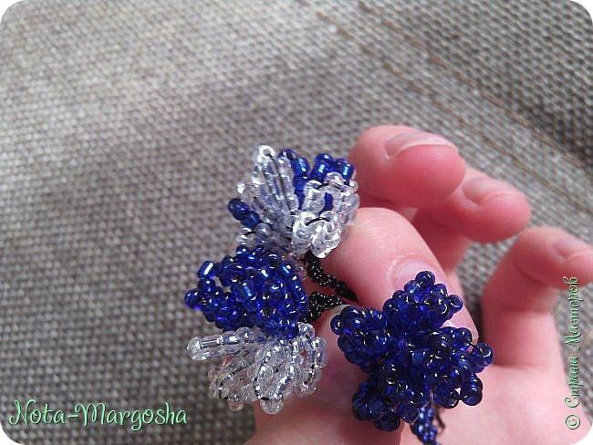 Букетик цветов в технике бисероплетение фото 2
