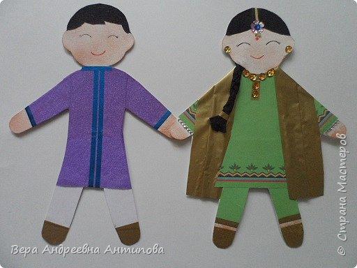 Добрый день, дорогие мастера и мастерицы нашей замечательной страны!!! Представляю вам наше с внучкой творение. Принимайте в хоровод наших мальчика и девочку из далекой, яркой и замечательной страны Индии. Вот такие они современные дети Индии, они протянули вам руки. Давайте вместе обнимем нашу планету, чтоб стало еще радостней! Улыбайтесь миру, и мир улыбнется вам!  фото 1