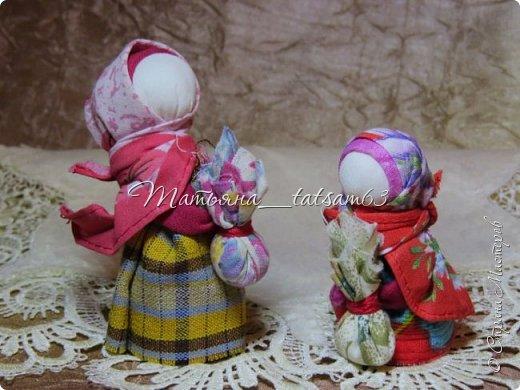 Появились у меня недавно новые веревочные куклы из пряжи, вот и решила их показать, а заодно и старые. фото 9
