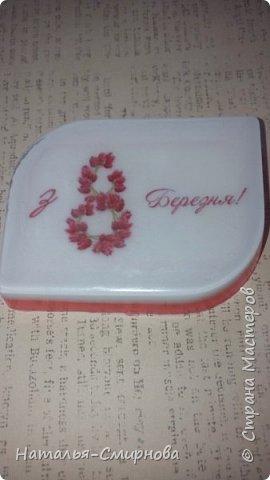 Хочу показать Вам немножко мыла, которое делала  к 8 Марта и ко Дню Валентина фото 16