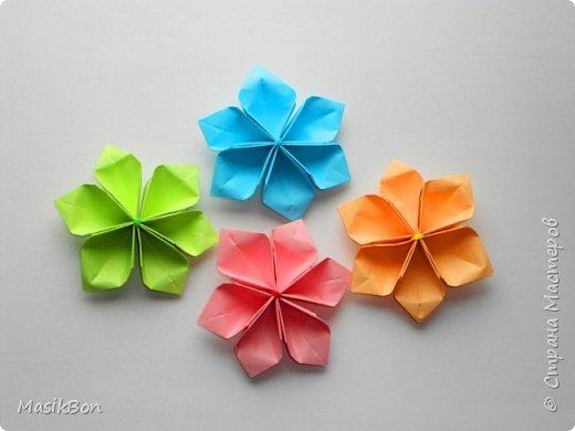Простые Бумажные цветы Оригами поделки