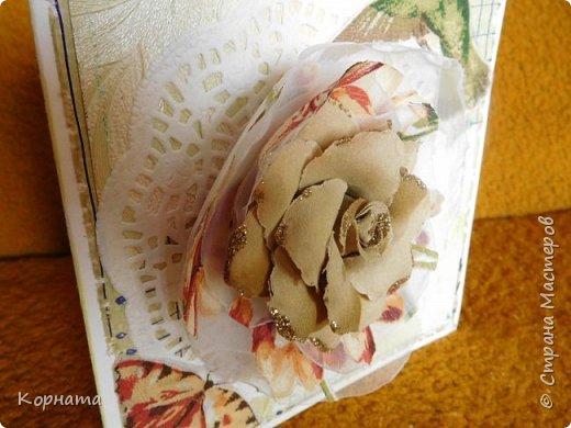 Доброго времени суток,дорогие друзья! Сегодня я с открыточками. Решила слегка утилизировать обрезки,вышла вот такая открыточка. фото 6