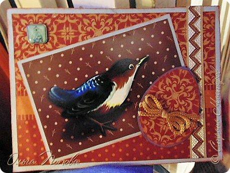Игольница из чистого серебра ))) , открытки и декупажик. фото 8