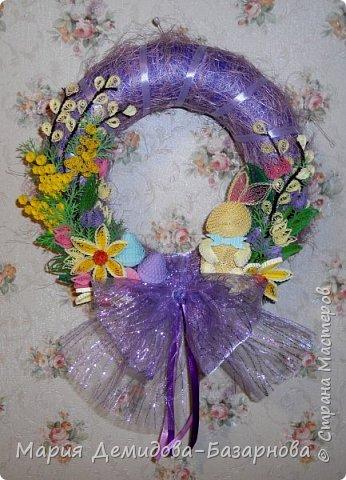 Пасхальный венок для декора интерьера. фото 2