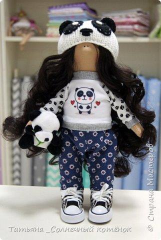 Текстильная куколка-пандочка Майя фото 1