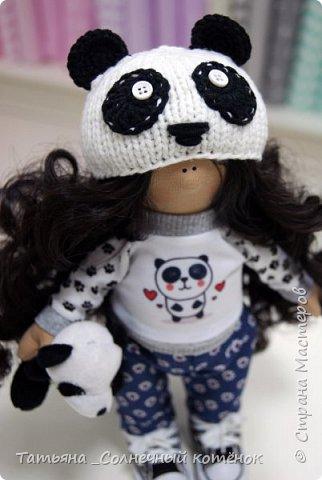 Текстильная куколка-пандочка Майя фото 2