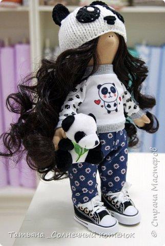 Текстильная куколка-пандочка Майя фото 3