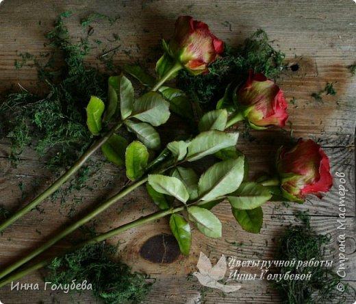Итак, у меня слепились очередные красные розы на заказ) По их тонировке я сняла небольшоц МК.Надеюсь, пригодится, так как красные розы одни из сложных в тонировке. фото 18