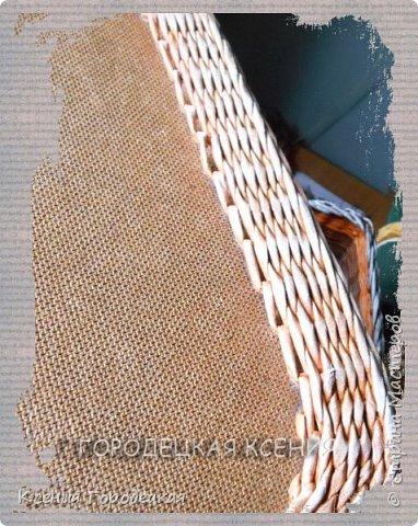 """Всем доброго времени суток))))  Сегодня у меня просто показ изделия...самого большого изделия в моей """"плетёночной жизни"""")))) Его размер 40см х 70см, высота 50 см. фото 3"""
