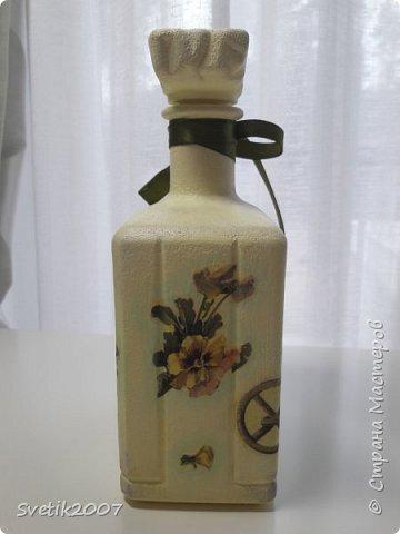 Прованс 3 (декупаж бутылок) фото 2