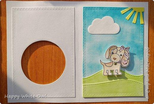 Всем привет!  Сегодня предлагаю Вашему вниманию сквозную открытку. Все ножи для вырубки и штамп я покупала в Китае. фото 3