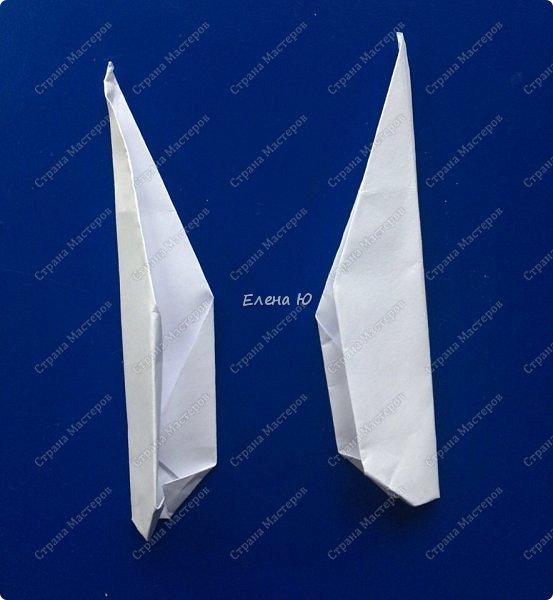 Космонавт складывается из 3 классических двухтрубных пароходов-оригами  фото 18