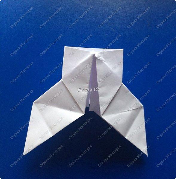 Космонавт складывается из 3 классических двухтрубных пароходов-оригами  фото 7