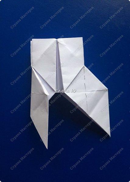 Космонавт складывается из 3 классических двухтрубных пароходов-оригами  фото 8