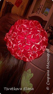 резинки для волос канзаши фото 16