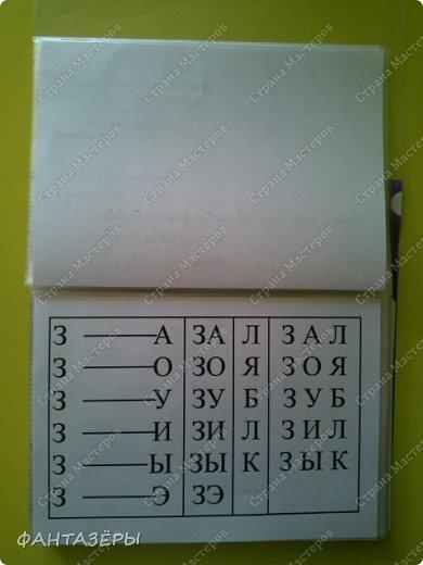 Всем доброго утра! Как и обещала, делюсь с вами материалами, которые помогли нам научиться читать.   В различных букварях много плюсов (красочные, с героями сказочными, шрифт большой и так далее). Составляя свое пособие для доченьки, я ориентировалась на подбор большего количества слов на данную букву или с определенными слогами.  Храним мы наши материалы в папке А-5 в файлах. При чем сбор материалов производили постепенно, по мере изучения определенной буквы. То есть изучили букву, вставили файл. И так далее. Файлы накладываем друг на друга. Поэтому первые слоги, с которыми мы начали работу, находятся в самом конце нашей папки.  фото 21