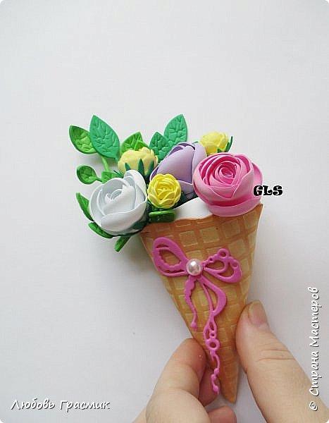 Весенняя мороженка-магнитик фото 2