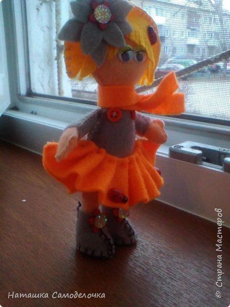 всем привет,вот такие куколки родились,сами куклы и одежда из мягкого,волосы из жесткого фетра,спасибо за внимание))) фото 6