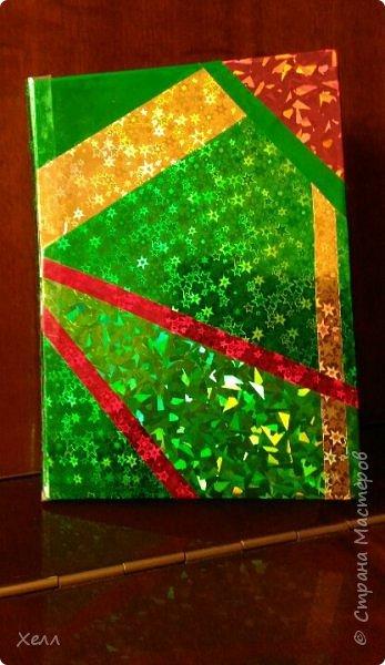 Такой вот яркий блокнот вышел у меня в подарок одной девочке.  Формат - А5 Самая яркая работа из тех, которые я когда-либо делала  фото 2