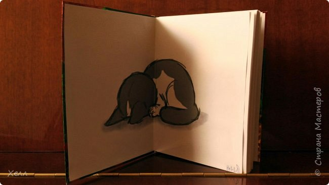 Такой вот яркий блокнот вышел у меня в подарок одной девочке.  Формат - А5 Самая яркая работа из тех, которые я когда-либо делала  фото 4