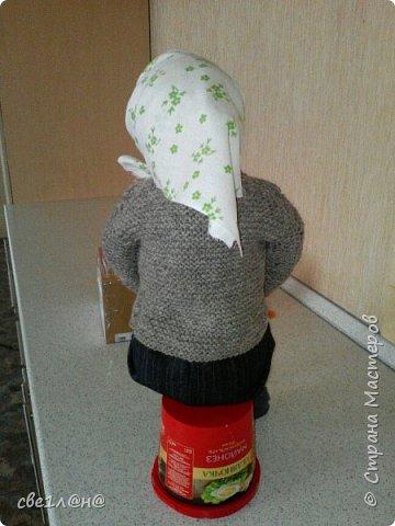 кукла баба Нюра высота куклы сидя 50 см. фото 4