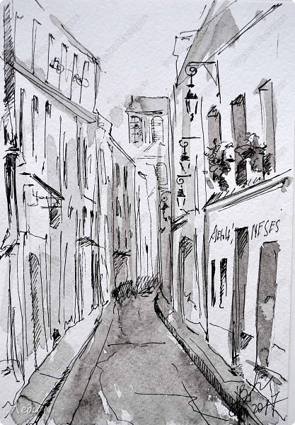 Доброе время суток, уважаемые обитатели СМ!  Долго, очень долго зрел этот маленький проект... после миниатюр с Прагой.  И вот созрел:)  Моя маленькая Франция, нарисованная тушью:)  Франция. Париж. Остров Сите.Ile de la Ciе. В основном все знают его со стороны Notre-Dame de Paris, но, право же, остров хорош с любой стороны. Добро пожаловать в сердце Парижа! фото 5