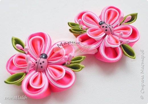 Миленькие цветочки....По МК MiLena фото 2