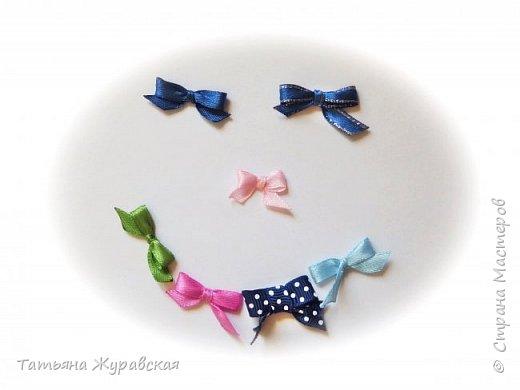 ❖Как сделать маленький бантик для куклы Тильда Ч.1 Простой бантик на вилке