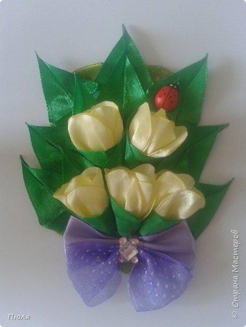 Доброго времени суток уважаемые жители СМ! Наконец то я доделала букетики тюльпанов, делала по МК: http://www.stranamam.ru/post/9181302/  и http://stranamasterov.ru/node/1018100 .  Вот  уж и 8 марта прошло давно, но цветы приятнее дарить просто так от души и без повода, поэтому принимайте мои букетики. Сделать выбор приглашаю моих кредиторов.  фото 6