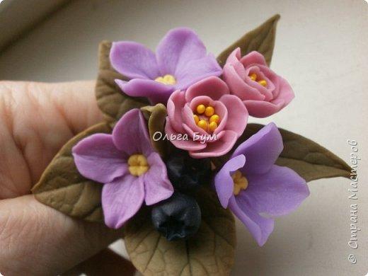 Бутоньерка с сиреневыми цветочками фото 5