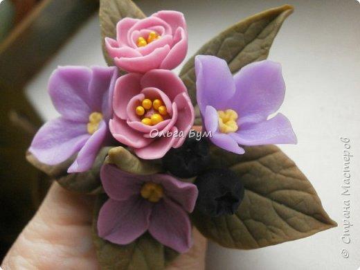 Бутоньерка с сиреневыми цветочками фото 8